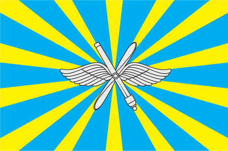 force: An Illustrated Drawing of the flag of Air Forces of the Russian Federation