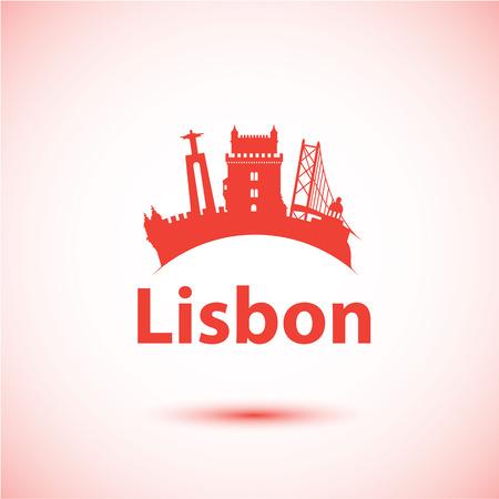 belem: Vector silhouette of Lisbon Illustration