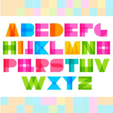 colorized: Geometric colorized shapes alphabet letters Illustration