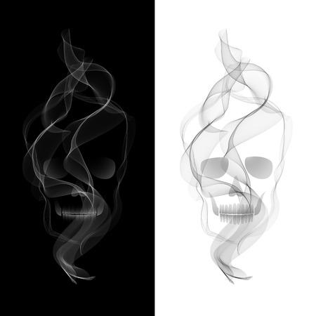 Vector Poisonous Smoky Skull.  No smoking concept Vector