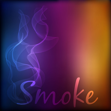 curse: Vector smoke on blurred background.  No smoking concept