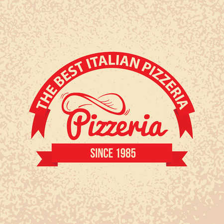 Italian cuisine Retro Vintage Labels Logo design.  Vector