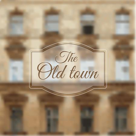 ventanas abiertas: fondo borroso con una vieja casas con las ventanas abiertas. Vectores