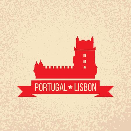 belem: Lisbon symbol - Belem tower - vector illustration