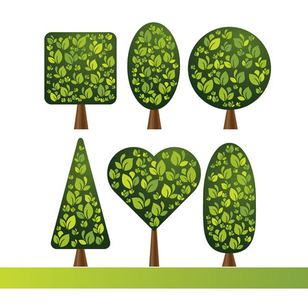 crohn's disease: Set of trees of various shapes.