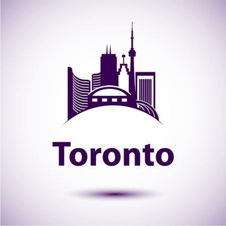 building cn tower: City skyline with landmarks Toronto Ontario Canada.