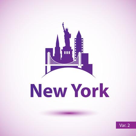 Caída De La Bola De Año Nuevo En Times Square, Nueva York. Vector De ...