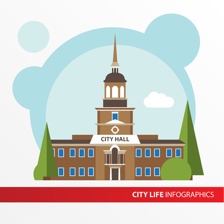 houses of parliament: Goverment building icon in the flat style. City hall. Concept for city infographic. Concept for city infographic. Different types of Municipal life of the city in the flat style.