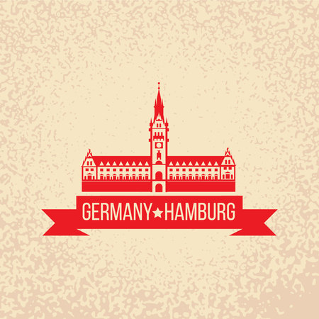 Free and Hanseatic City of Hamburg. Germany. Vector illustration. City skyline.