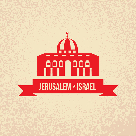 Jerusalem- Israel Temple Sample structure in Vector image.