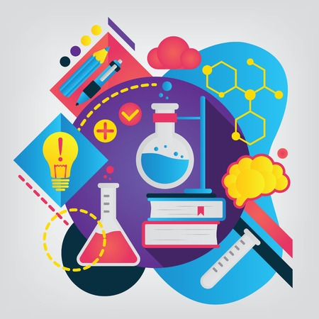 Back to school concept. Chemistry