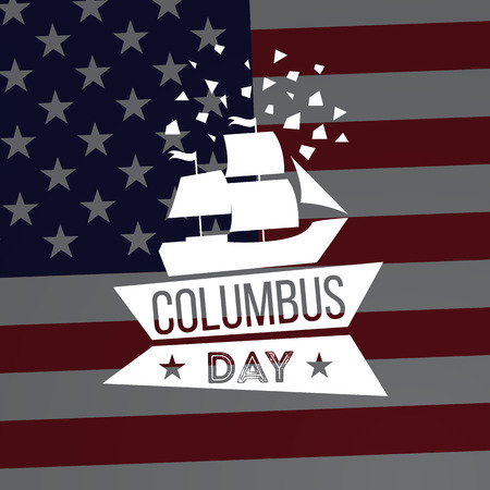 Happy Columbus Day. Vector illustration. Great holiday gift card.