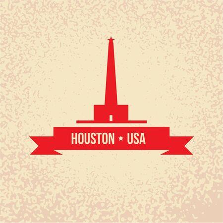Houston USA, detailed silhouette