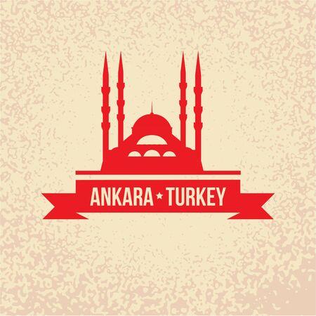 Ankara, Turkey detailed silhouette