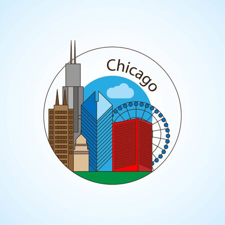 Chicago US vector