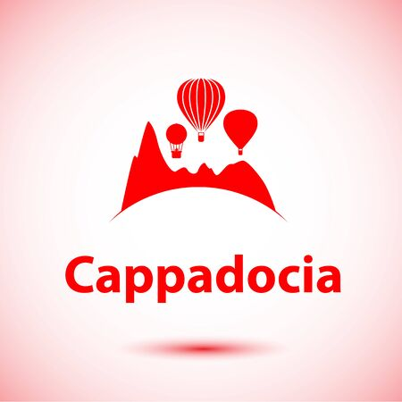 Cappadocia, Turkey detailed silhouette