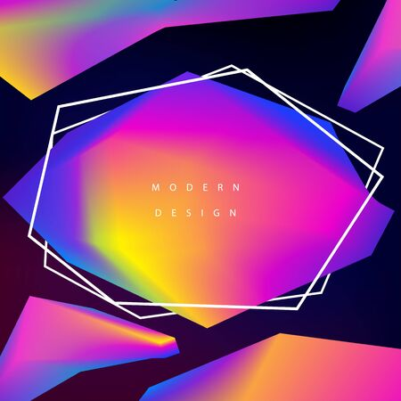 Modern background design. Gradient web banner. Geometry polygon composition. Blend colors. Ilustração