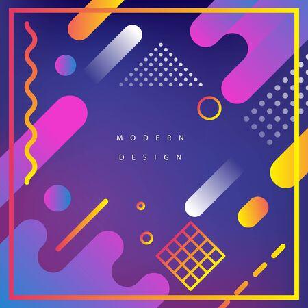 Modern background design. Fluid motions. Gradient web banner. Geometry composition. Ilustração