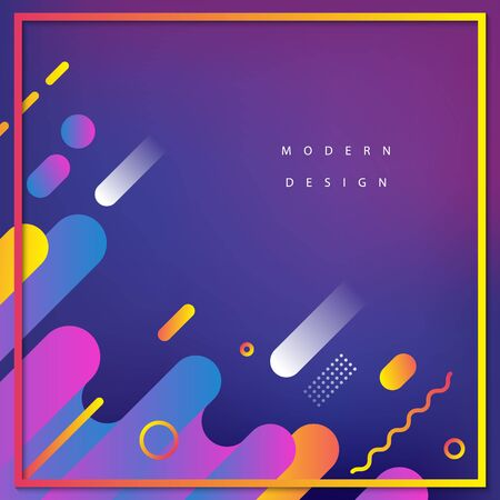 Modern background design. Fluid motions. Gradient web banner. Geometry composition. Ilustrace