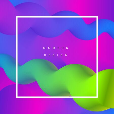 Modern background design. Fluid motions. Gradient web banner. Geometry composition. Blend tentacles.