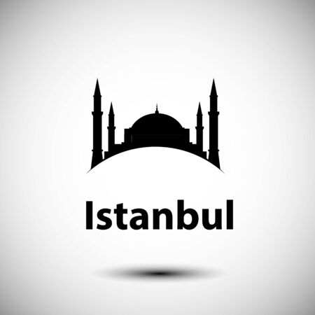 Istanbul Turkey, detailed silhouette