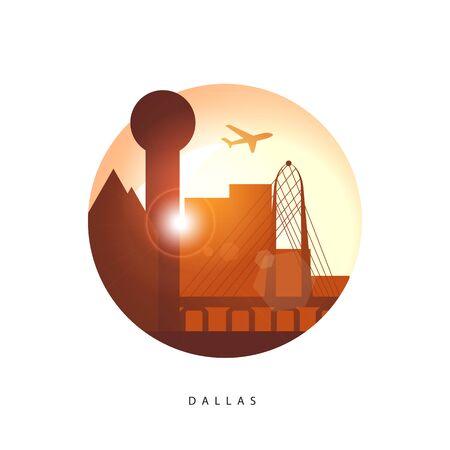 Dallas USA detailed silhouette