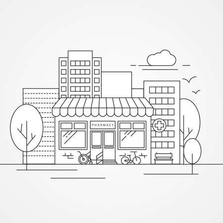 Pharmacy design Trendy vector illustration