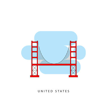 San Francisco United States detailed silhouette.