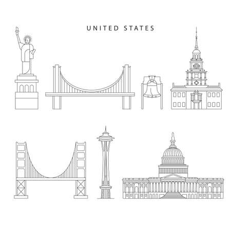United States detailed silhouette.