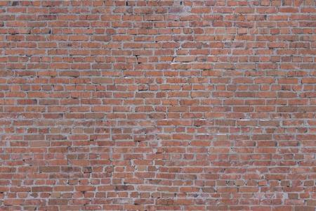 Czerwona cegła. Tekstura muru.