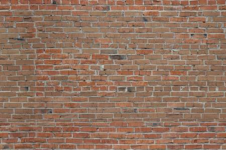 Roter Ziegelstein. Die Beschaffenheit des Mauerwerks.