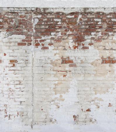 Rode baksteen. De textuur van het metselwerk. Stockfoto