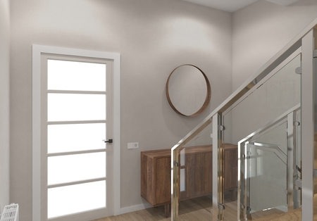 Modern staircase of the house. Stock Photo - 121555861