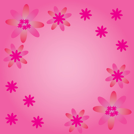 flowerses: The Floral rose background. The Rose flowerses. Illustration