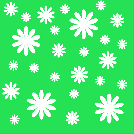 The Background of the daisywheel. The Daisywheels on green background. Stock Vector - 6197600