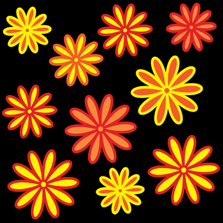 The Bright varicoloured flowerses. Much beautiful daisywheels.
