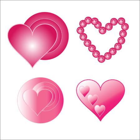 The Symbols heart.The Heart for day Valentina. Vector