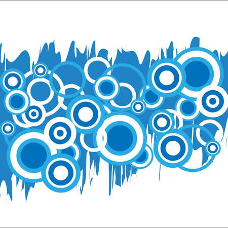 The Abstract background. The Background blue circles.