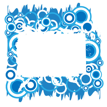 The Abstract frame. The Frame blue circles. Vector