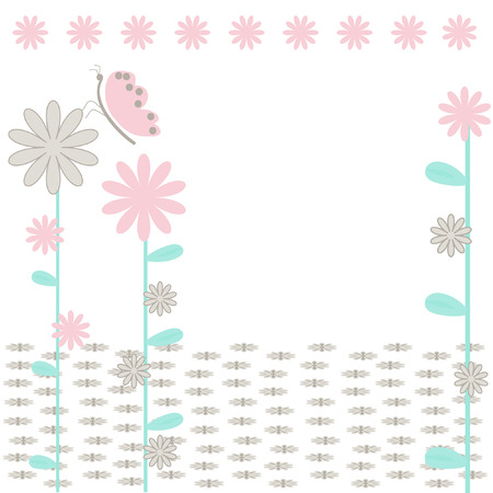 The Background flowerses.The Festive postcard. Vector