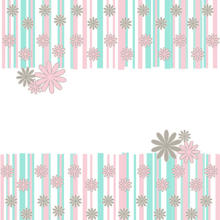 The Abstract background. The Background flowerses and bands. Vector