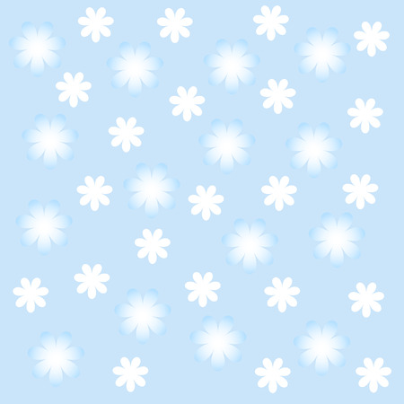 flowerses: White and blue flowerses. The Floral background. Illustration
