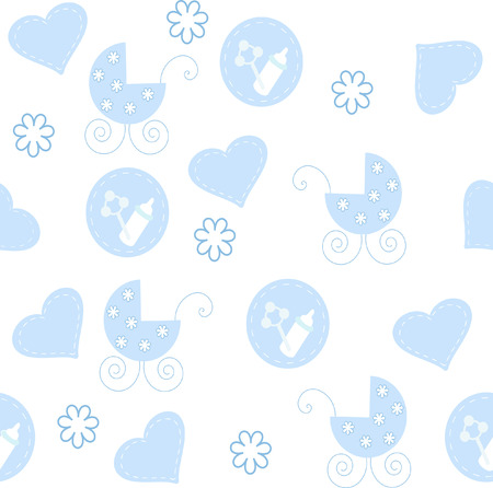 The Background seamless baby.The Drawing fabrics for newborn.. Stock Vector - 6590326