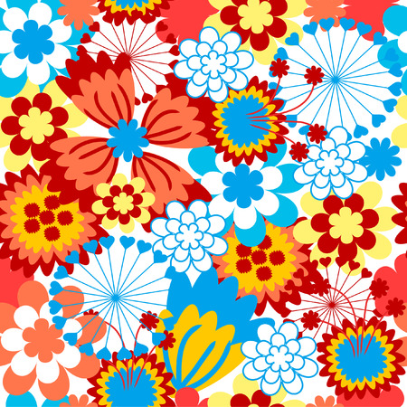 The Background seamless floral.The Material in gentile flower. Illustration