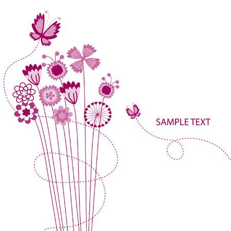 mazzo di fiori: Abstract floral background. La cartolina complimentary.