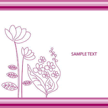 The Abstract floral background. The Complimentary postcard.  Vector