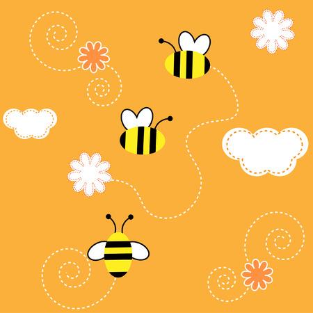 miel de abeja: El .el transparente de fondo Bees recopilar el polen con flor