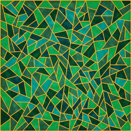 stained glass: The Abstract background. The Green mosaic.