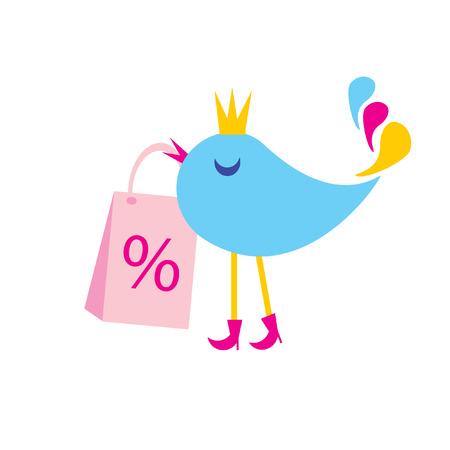 logotipo animal: Las mercanc�as sellout. El concepto de la compra ingenioso.  Vectores