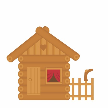 log cabin: Russian beat. It Is Insulated on white background. Illustration